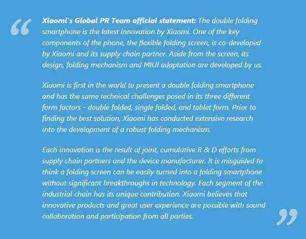 Xiaomi emite declaração oficial sobre o telefone dobrável e temos também renders 3D 1