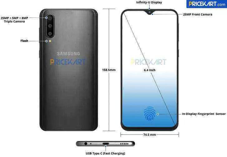 Samsung Galaxy A50 detalhado em renders para vosso deleite 1