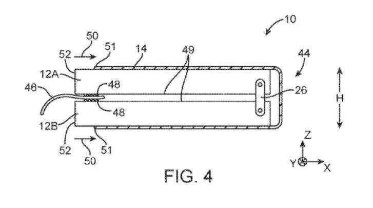 Patente do ecrã dobrável da Apple apresenta vários projetos interessantes 3