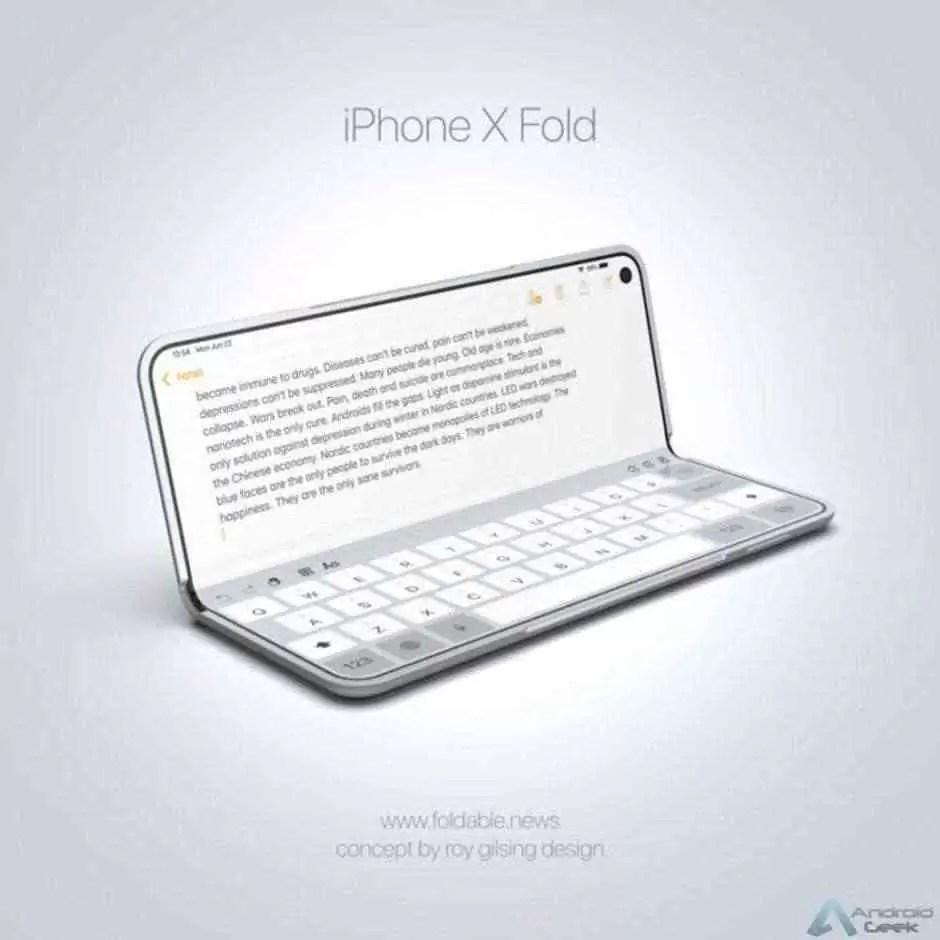 Conceito de iPhone dobrável inspirado no Galaxy Fold revela um dispositivo impressionante 3