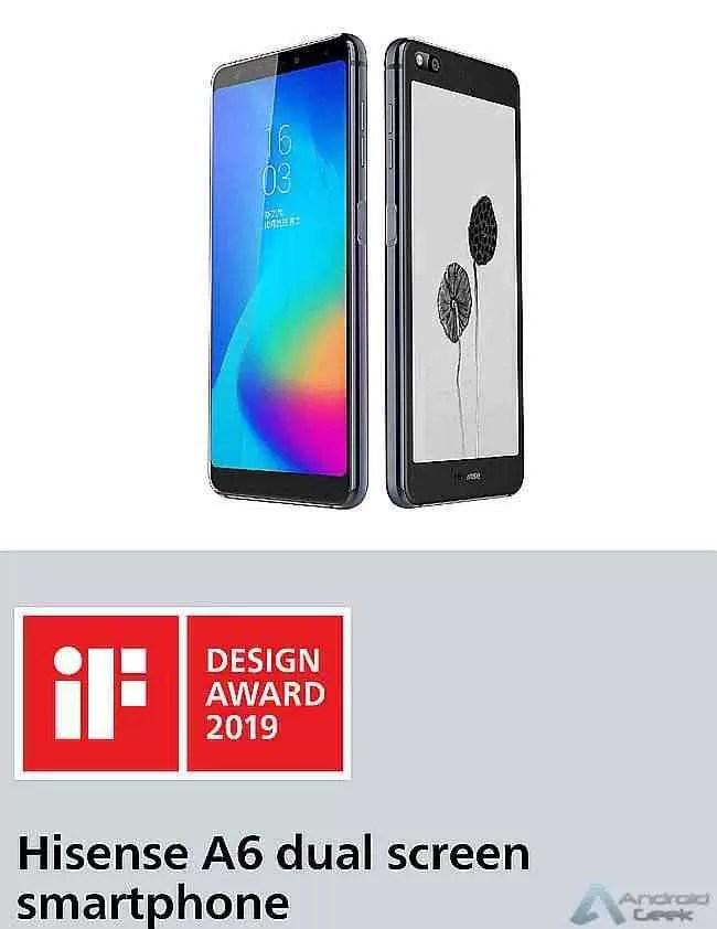 Hisense A6 reconhecido com iF DESIGN AWARD 1