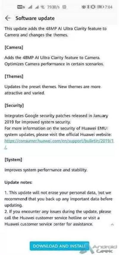Primeira atualização do Honor View 20 traz os patches de segurança de janeiro e novos recursos 3