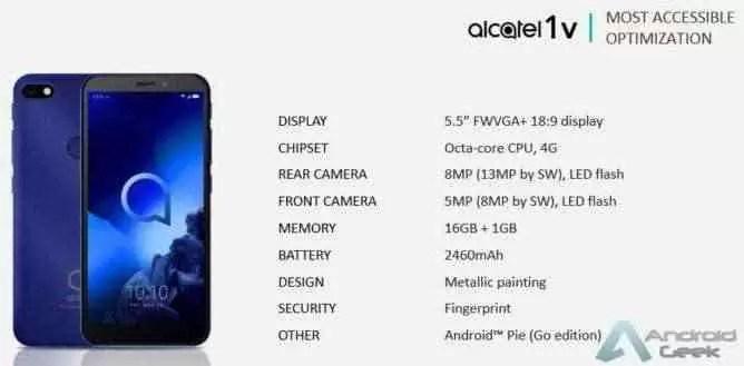 Linha de smartphones Alcatel 2019 revelada pelo suspeito do costume 4