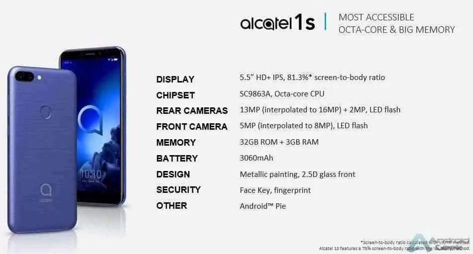 Linha de smartphones Alcatel 2019 revelada pelo suspeito do costume 6