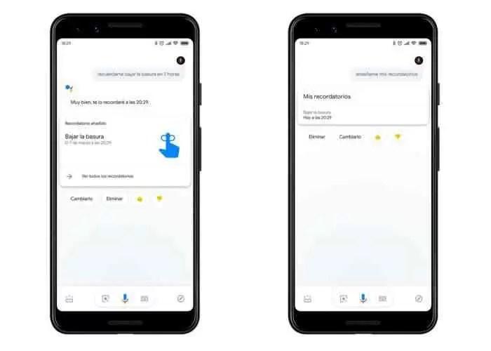 Google Assistant de lembretes