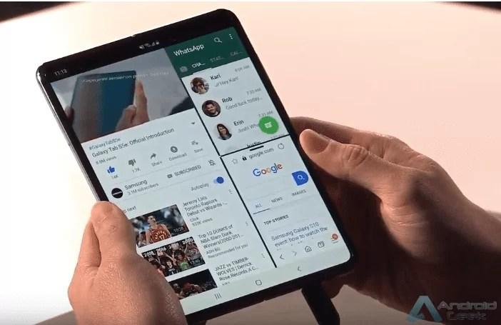 Multitarefa com três aplicações para Samsung Galaxy Fold