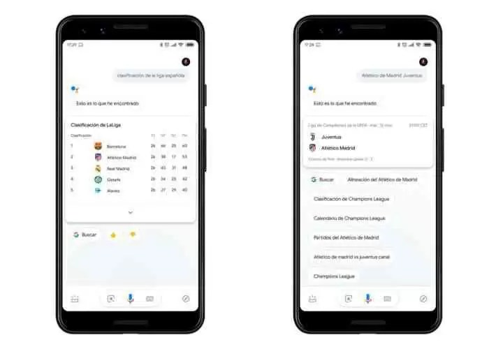 Google Assistant de desportos