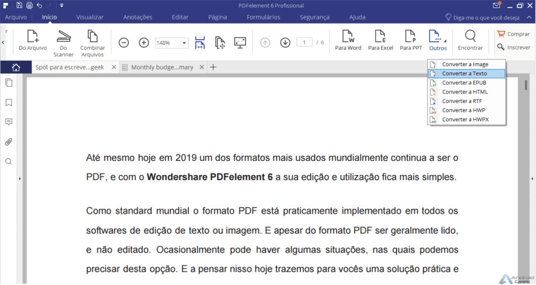 Já precisaram editar um PDF? PDFelement 6 pode ser o que procuram 1