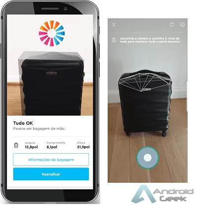 Faz aqui Download da nova ferramenta da momondo para medir bagagem de mão através de Realidade Aumentada 2