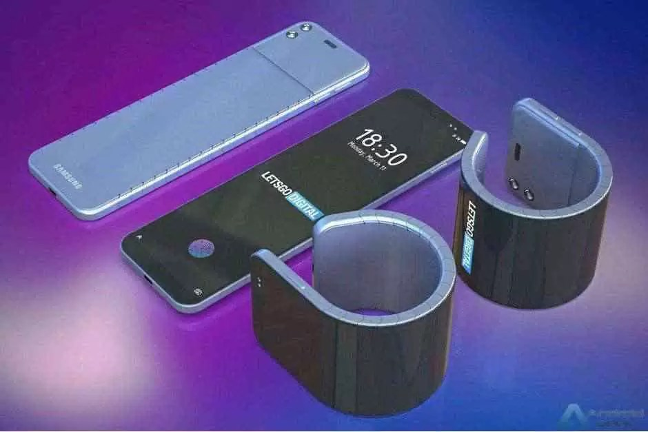 Samsung patenteia telefone dobrável que pode ser usado no pulso 1