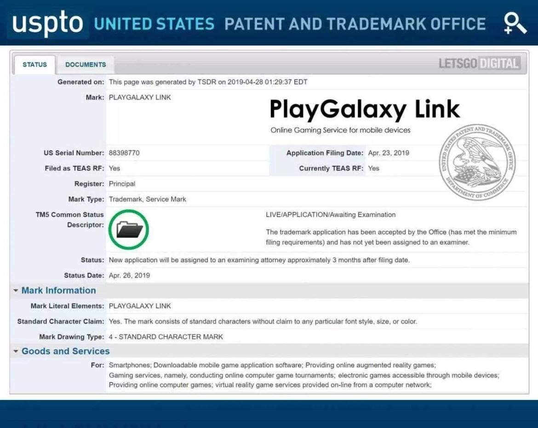 Um smartphone de jogos Samsung? A patente do PlayGalaxy Link sugere