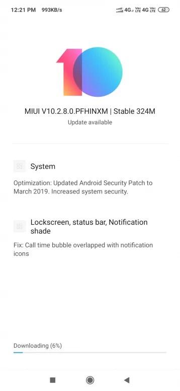 Redmi Note 7 atualização Pro