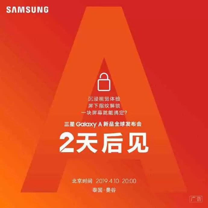 Samsung China confirma evento de lançamento global a 10 de abril; Galaxy A60 e A70 podem ser oficializados 1