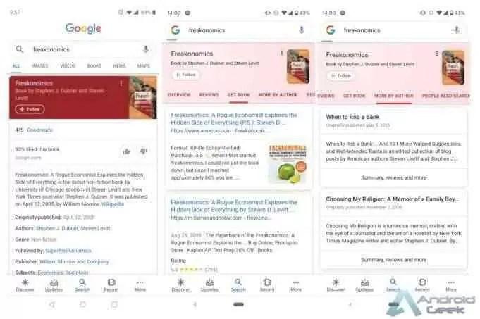 Google continua a melhorar os cartões de resultados de pesquisa 2