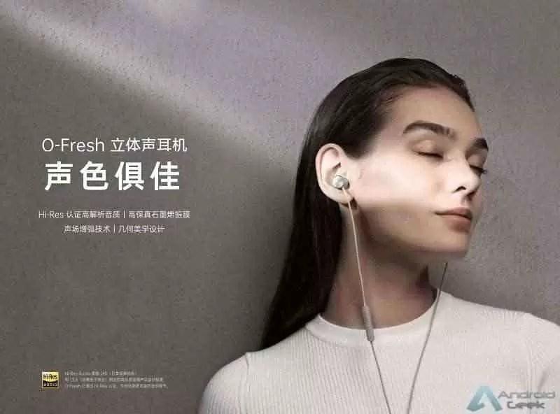 OPPO apresenta fones de ouvido O-Fresh com diafragma de grafeno 1