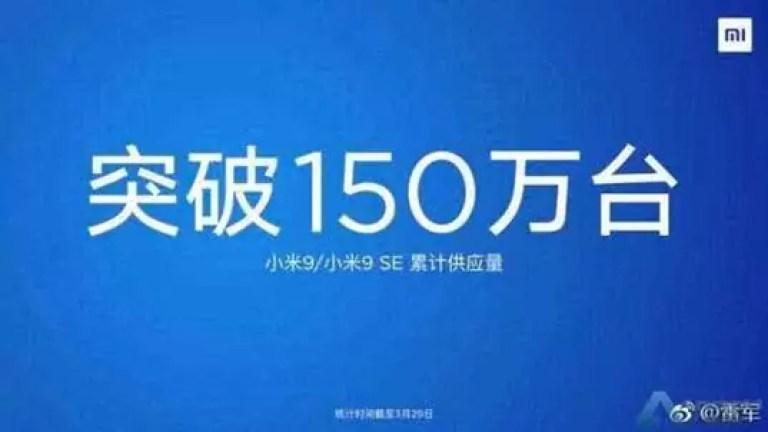 Xiaomi envia mais de 1,5 milhões de unidades do Mi 9 1