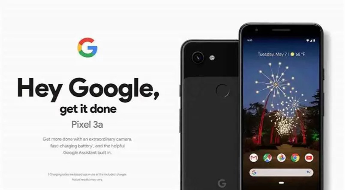 Material de marketing do pixel 3a