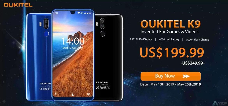 """Acabaram os segredos: OUKITEL K9 tem 7,12 """"Display e bateria de 6000mAh, pré-venda começa em $ 199,99 1"""