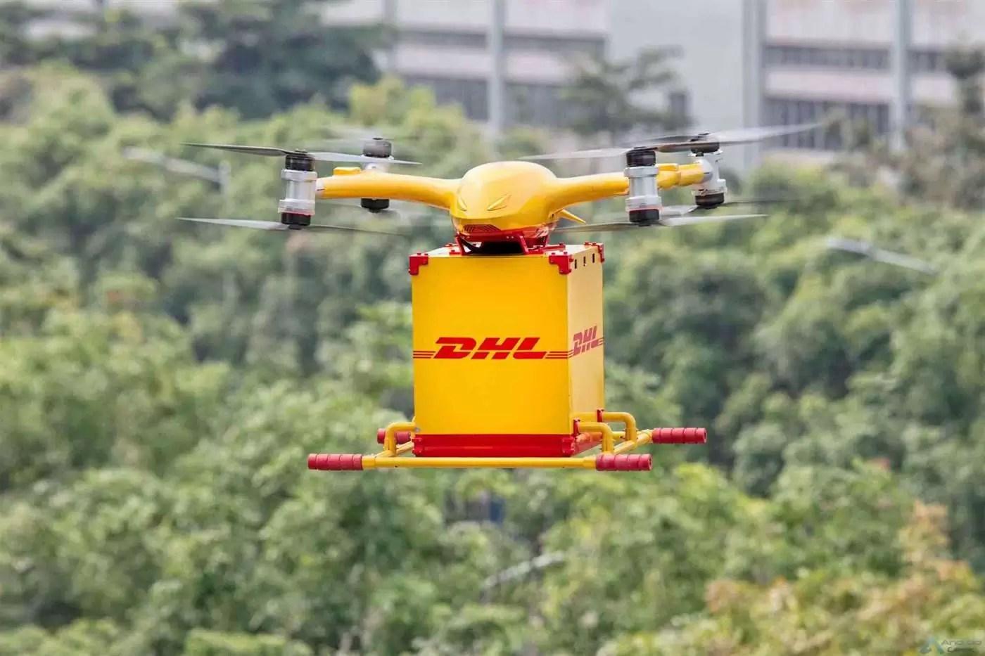 DHL Express inicia serviço de entrega com drones 1