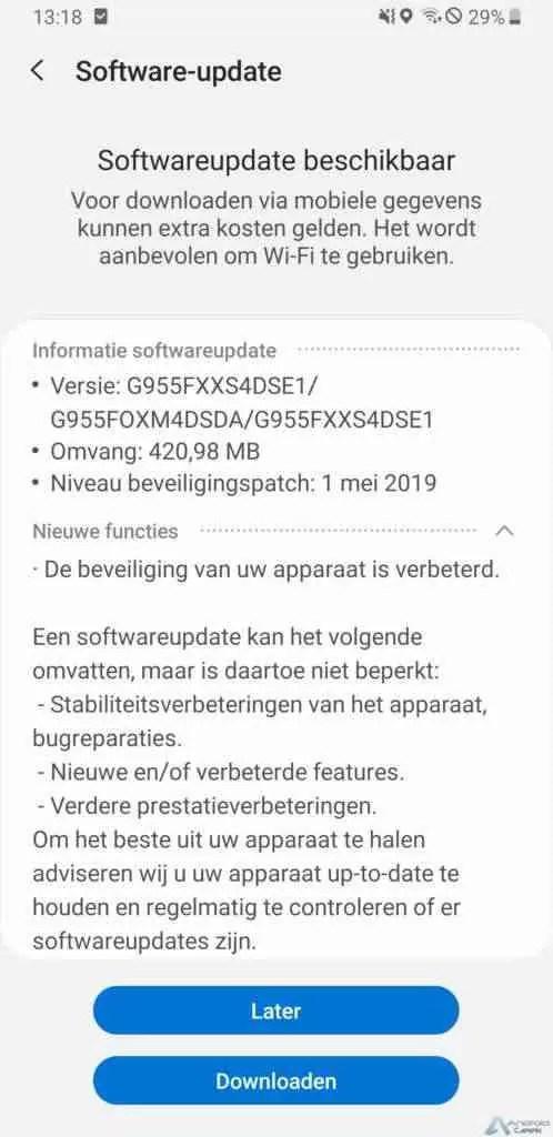 O Samsung Galaxy S8 + recebe o patch de segurança de maio de 2019 1
