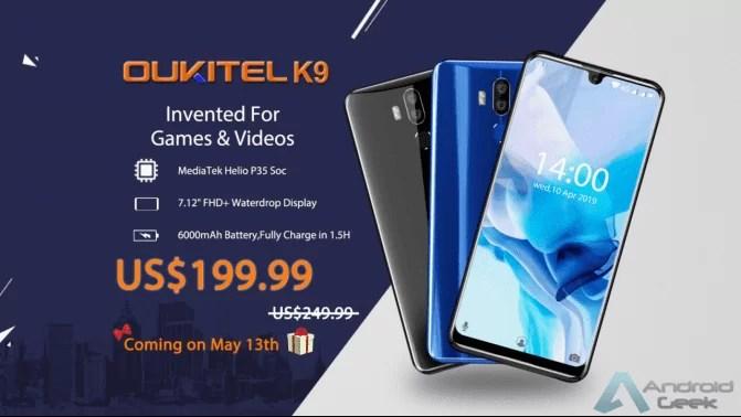 OUKITEL K9 entra em pré venda a 13 de maio por apenas US $ 199,99, Vejam aqui em vídeo quão grande é o ecrã de 7,12 polegadas 1