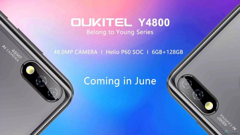 OUKITEL Y4800 revelado em fuga de informação e mostra câmara de 48MP e Soc Helio P60 2