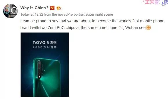 Segundo chipset de 7nm da Huawei - Kirin 810