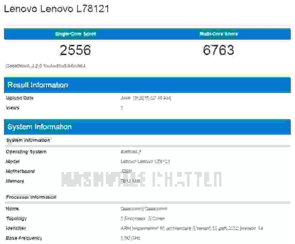 Lenovo Z6 Geekbench