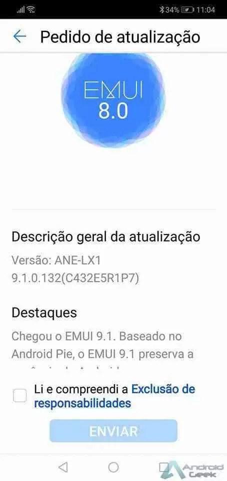 Huawei P20 Lite começa a receber EMUI 9.1 em Portugal 2
