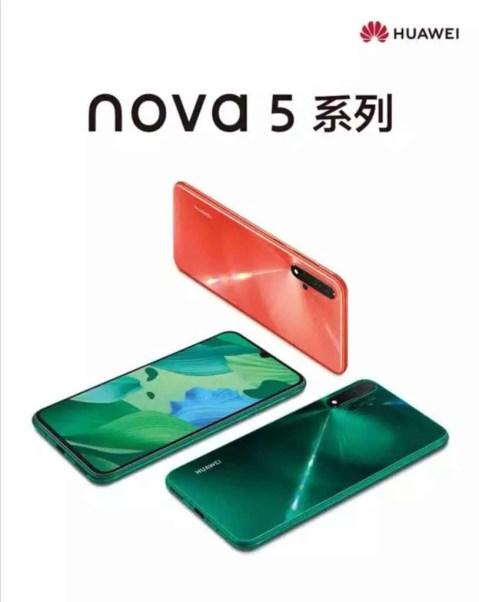 Variantes de cor do Huawei Nova 5 Pro aparecem no JD assim como Vídeo promocional 1