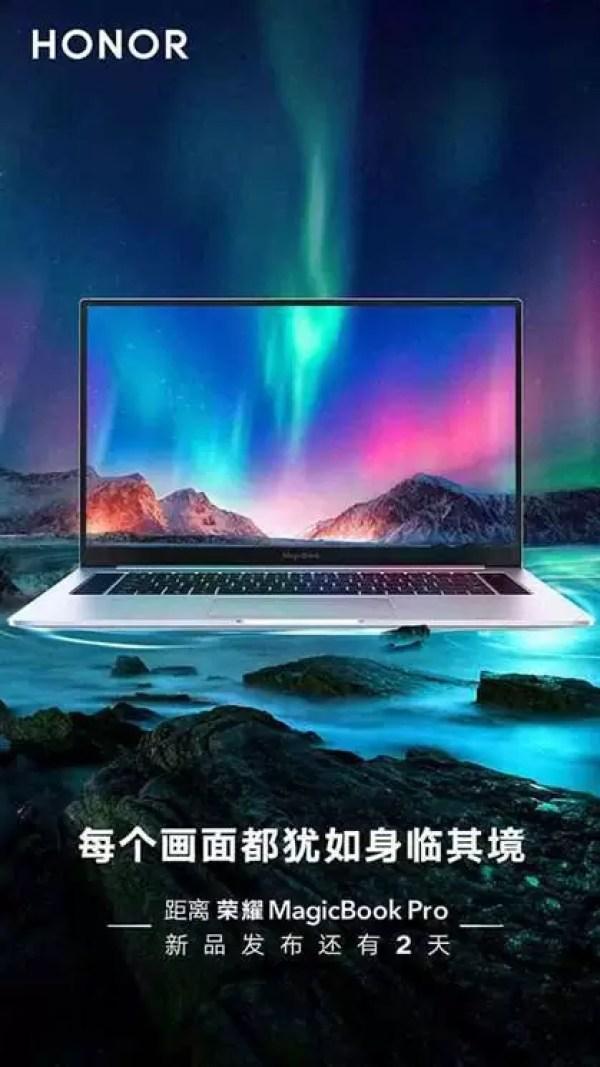 Honor Magicbook Pro visto em imagem promocional 1