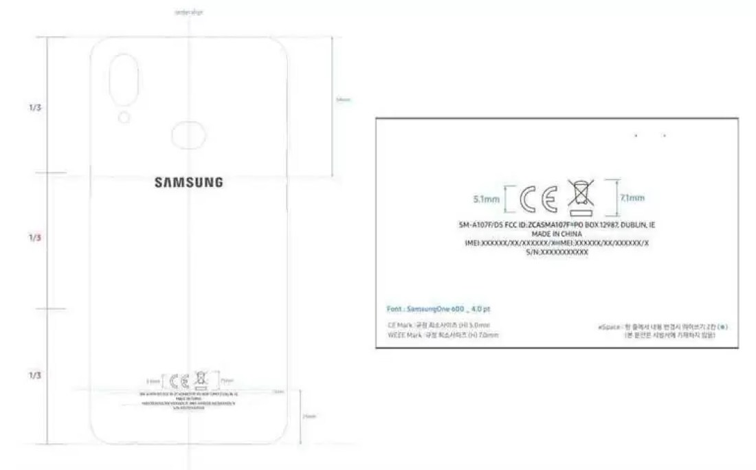 Galaxy A10s consegue outro certificado em preparação para o lançamento 2