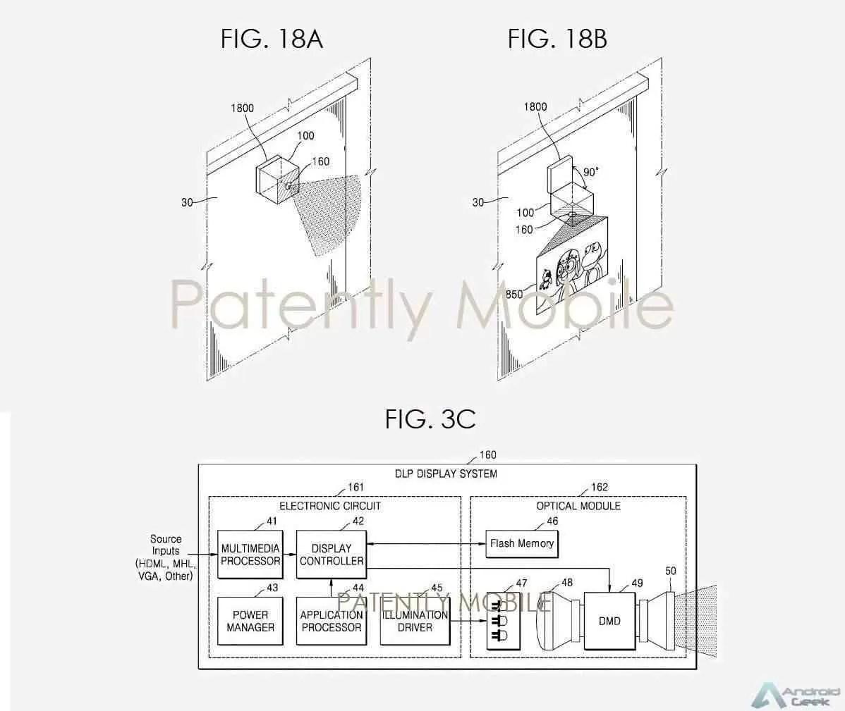 Patente de Acessórios do Projetor Samsung