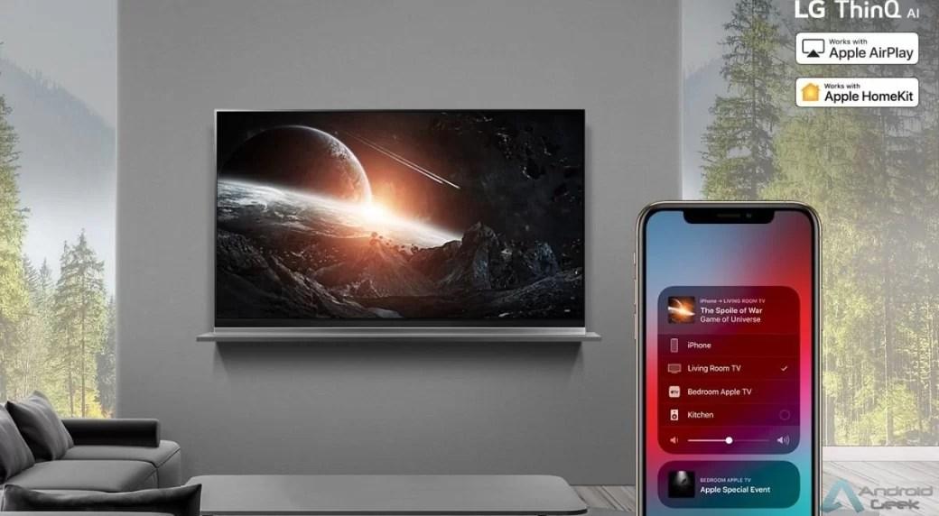 LG disponibiliza o Apple AirPlay 2 nas TVs ThinQ AI e é o primeiro fabricante global a suportar o HomeKit 1