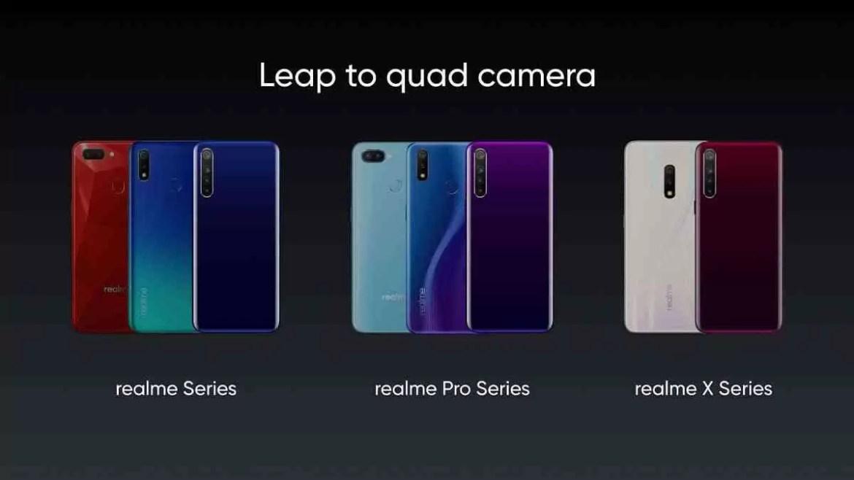 Realme Quad Camera Lineup