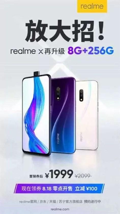 Realme X 8 GB + 256 GB