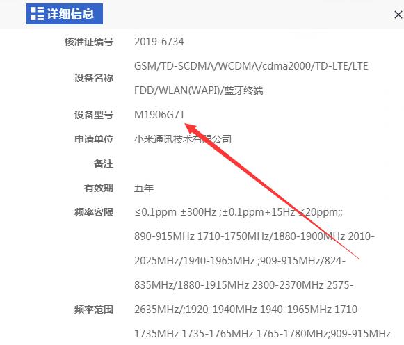 Xiaomi M1906GT