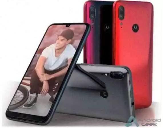 Motorola Moto E6 Plus superfícies em três cores