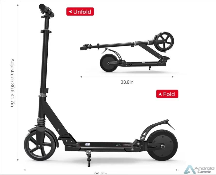 Querem uma trotinete eléctrica por menos de 140€? Vejam a E9 8inch Electric Scooter 2