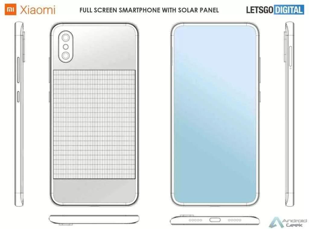 Xiaomi patenteia smartphone equipado com painel solar 2