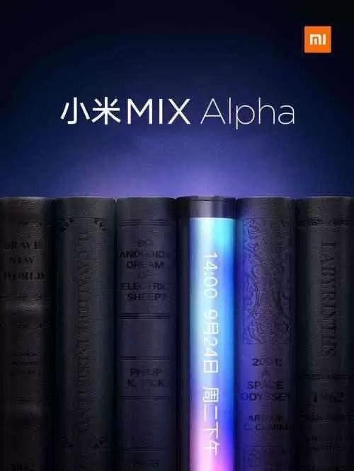O Xiaomi Mi Mix Alpha oferecerá uma relação tela / corpo mais alta e tela em cascata