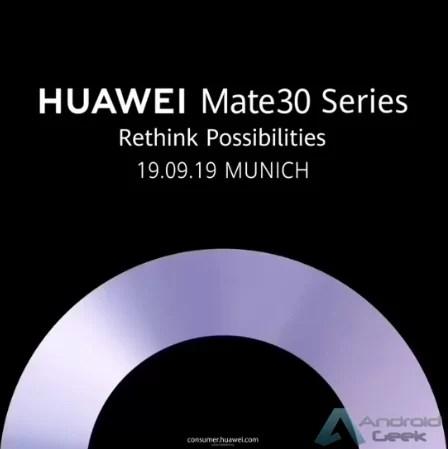 Huawei confirma o lançamento da série Mate 30 a 19 de setembro em Munique 1