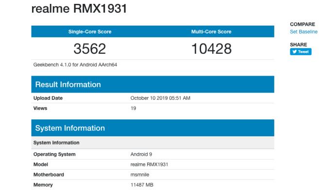 Realme X2 Pro (geekbench)