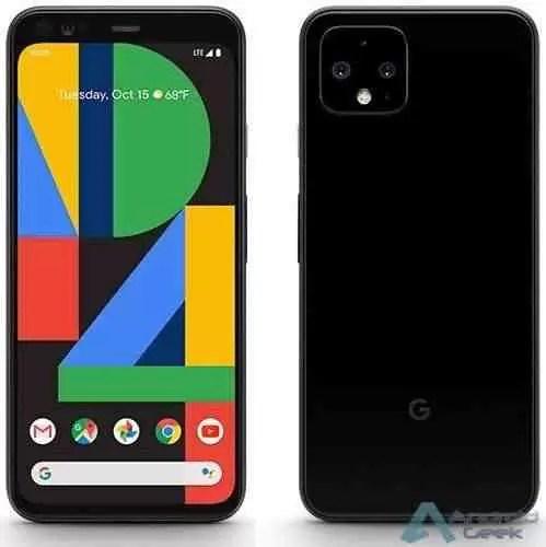 Google Pixel 4 brilha em uma renderização de imprensa de aparência oficial