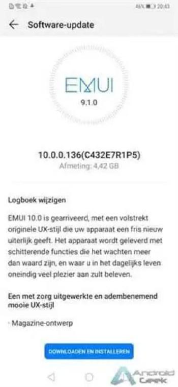 Huawei Mate 20 Pro começa a receber Android 10