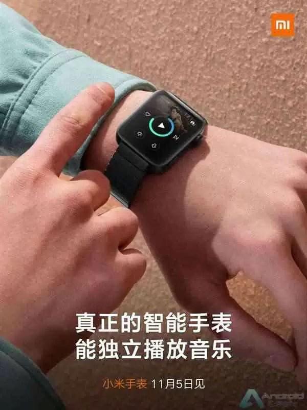 Xiaomi Smartwatch irá oferecer suporte a reprodução de música autónoma 1