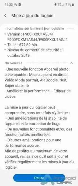 Galaxy Fold está a receber alguns recursos da câmara do Note 10 em atualização de software 2