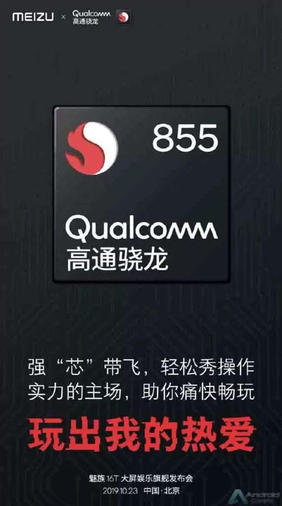 Meizu 16T confirmado com CPU Snapdragon 855 2