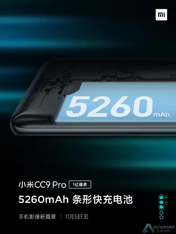 Xiaomi CC9 Pro confirmado com bateria de 5.260mAh, carregamento rápido de 30W 1