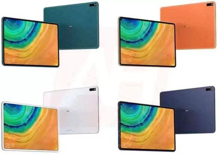 Huawei P Smart 2020, nova 6 e MatePad Pro aparecem em novas renderizações